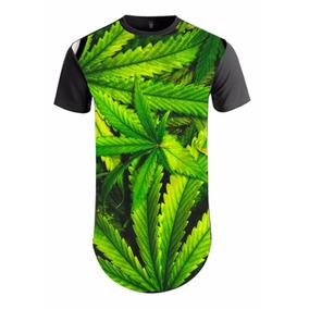 d5623a5a0 Camiseta Folha Da Erva Maconha Cannabis 4 20 Longline Dope