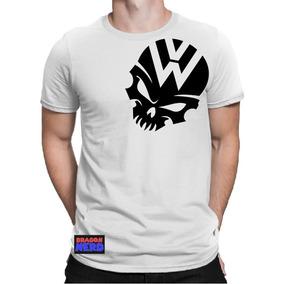 e3e97de5d7dbb Camiseta Fusca Kombi Air Cooled Vw Caveira Gol Golf