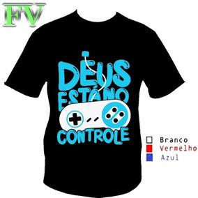 cec9374bd Controle Branco - Camisetas no Mercado Livre Brasil