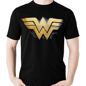 c289df5fc Camiseta Mulher Maravilha Logo Wonder Woman Camisa Blusa