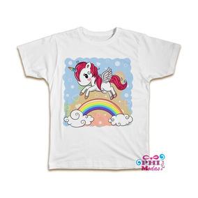 c2753d4125 Camiseta Unicornio Infantil - Camisetas Manga Curta para Meninos em ...