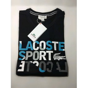 8615e198342db Camiseta De Marca Lacoste Com Estampa Emborrachada - Camisetas no ...