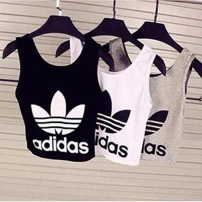 ade5d786333 Top Cropped Adidas Barato no Mercado Livre Brasil