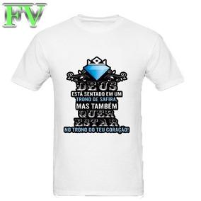 ed8e94d44 Camiseta Deus - Camisetas Manga Curta para Meninos no Mercado Livre ...