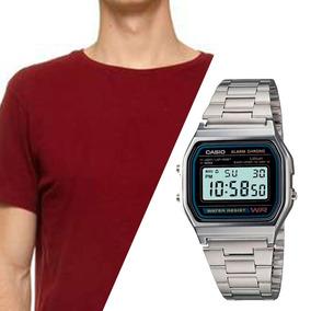 67d8fca0b2 Kit Homens Casio A158 E Camiseta Adrenalina Top Originais