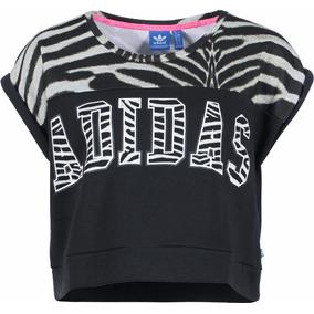 972e74e90d8 Camiseta Regata Cropped adidas Originals Estampa Zebrada Top