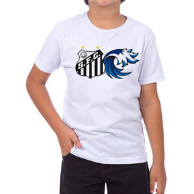 18ad790646fbf Camiseta Camisa Infantil Santos Mascote Onda