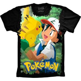 af12e1028 Camisetas Desenhos Pokémon Pikachu Infantil - Calçados