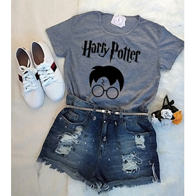 322e82a9d Baby Look Feminina Harry Potter Camiseta T-shirt Barato!