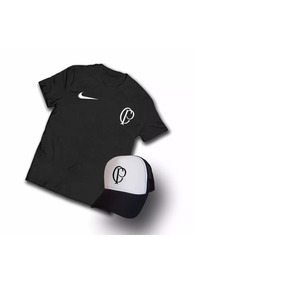 00d0a3d9b91b0 Kit Camiseta + Bone Cp Corinthians Qualidade Promoção.2