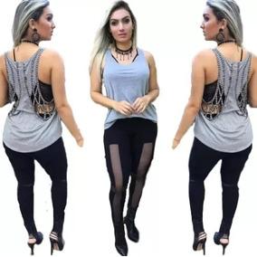 708b352038 Blusa Com Decote Do Peito Tamanho M - Cropped Regatas para Feminino ...