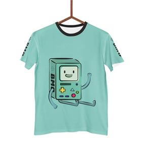 b52d11c8f Camisa Camiseta Bmo Hora De Aventura Adventure Time G0140