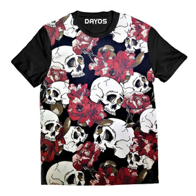 071e530620d85 Camiseta Caveira Masculina Com Red Fone Camisetas - Camisetas e ...