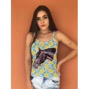 a4572750c9 Regata Rasgada Dos Lado - Blusas para Feminino no Mercado Livre Brasil
