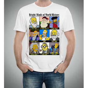 3f93d13ce Camiseta Simpsons Albert Einstein Stephen Gênios Da História