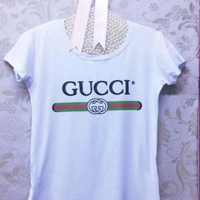a9c8f85d60f T Shirt Gucci Feminina Camisetas Manga Curta Feminino - Camisetas e ...