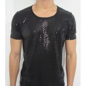 77cca1c57 Camisetas Masculinas Cirrê Trabalhado Bolinhas Brilhosas