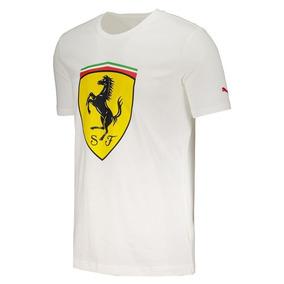 f3104554e9bae Camiseta Puma Ferrari Branca Ou - Camisetas Manga Curta no Mercado ...