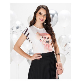 4c70dd9bb7 Fita De Cetim Para Dança - Camisetas e Blusas no Mercado Livre Brasil