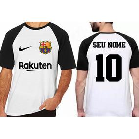 2a6b1f2277e9d Camiseta Barcelona Personalizada no Mercado Livre Brasil
