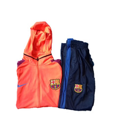 d0197440bb38f Camisa Bercelona Manga Longa E Calça Treino Conjunto