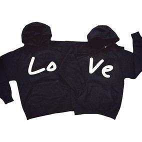 a527e77c57d56 Kit 2 Blusa Casal Love Moletom Unissex Amor Namorado Canguru