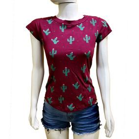 ffe0cae7d9 Blusa Feminina Blusinha Viscose Barata Camiseta Tshirt Ca01