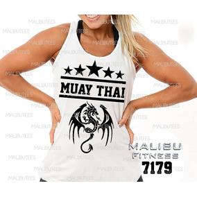 8092acf388046 Camiseta Regata Feminina Muay Thai Dragão Academia Ref7179