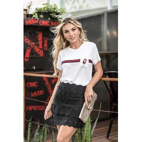 01fa04aaf5a Camisetas Gucci Feminina - Camisetas Manga Curta no Mercado Livre Brasil