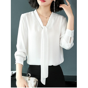 f455cb9666 Blusas Brancas Femininas Elegantes Tamanho M - Blusas para Feminino no  Mercado Livre Brasil