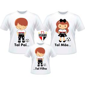 4de38d21a Kit Camisetas Tal Pai Tal Mãe Tal Filho Times De Futebol Sp