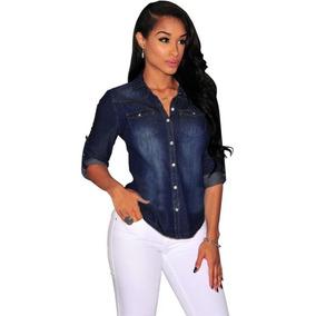 2595c39eb7 Camisa Feminina Jeans Importada Ms Fashion Promoção