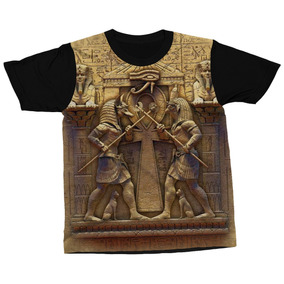 7f3b69849 Kit Com 2 Camisetas Anúbis Deus Egípcio Mito Blusa Camisa
