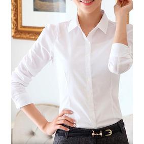 c3edbb0f4 Blusa Branca 3 4 Social - Calçados