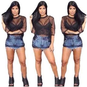 bd82d55f4 Cropped Transparente - Camisetas e Blusas Cropped para Feminino no ...