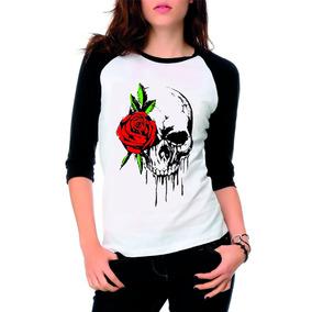 5fd774398 Camiseta Caveira Feminina Strass - Camisetas e Blusas Outros no ...