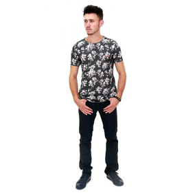 403e137c04580 Camiseta Chumbo Floral Acostamento Original Barata