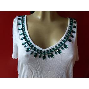 61109de55 Linda Bata Indiana Com Pedrarias - Camisetas e Blusas no Mercado ...