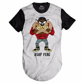 a7104b57ccf22 Camisa Taz Mania Camiseta Oversized Longline Asap Ferg Top
