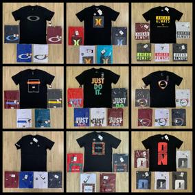 f55f82c476 10 Camisetas Oakley Quiksilver Hurley Hang Rip Mcd E Etc..