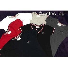 f7cebf147d8d0 Camiseta Gola V Lacoste - Camisetas e Blusas para Feminino no ...