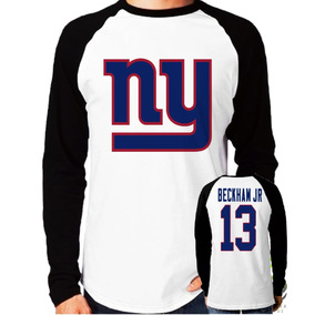 7f3279fd0 Camisa Blusa New York Giants Beckham Jr. Manga Longa Nfl
