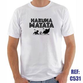 5d123dec11b68 Camisa Hakuna Matata Timão E Pumba Rei Leão Desenho Filme