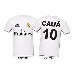33dd1e90c57b1 Camiseta Real Madrid Personalizada Com Seu Nome Numer - Camisetas e ...