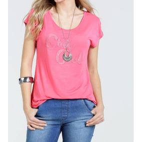 631b3e060 Estampas De Silk Frases - Blusas no Mercado Livre Brasil