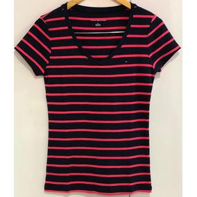 b584b673953f4 Camiseta Listrada Tommy Hilfiger Com - Calçados