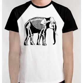 e673828e8 Camiseta Raglan Esqueleto Elefante Biologia Camisa Blusa
