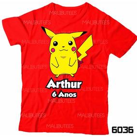 e625e1547 Camiseta Infantil Personalizada Desenho Pikachu Pokemon 4036