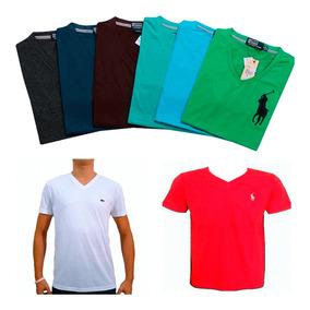 b58f9cd706038 Kit 15 Camisa Camiseta Masculina De Marca Gola V Top