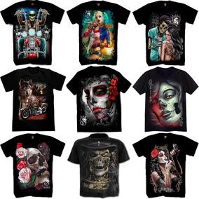 6331df4cd90e9 Camiseta Catrina - Camisetas Manga Curta para Masculino no Mercado ...